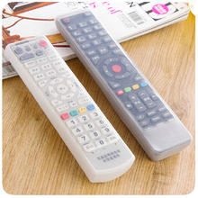 Silicone TV Remote Control Cover Air Condition Control Case Waterproof Dust Protective Storage Bag Organizer 3 colors for choice(China)