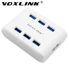 VOXLINK Mini Portable Multi Port USB Charger 24W 4.8A 6-Port USB Charging Station Hub Power Station for iPhone iPad Tablet