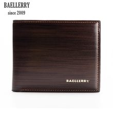 Baellerry business Print Leather Mens Small wallet Men's bag Purse male original brand Printing Square Wallet for money for men(China)