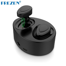 FREZEN Mini Twins True Wireless Stereo Bluetooth Earphones CSR 4.1 Bluetooth Handsfree headsets with Charging Box Dock Earbuds(China)