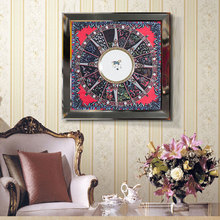 Handmade Living Room Hotel Soft Outfit Wall Decorative Plated Scarf Picture