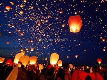 Hot sale 50pcs/pack Eco-friendly diamond shape sky lantern/Wish lantern  with metal free offer mixed  colors 100%biodegradable