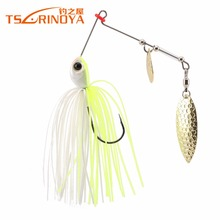 Trulinoya P24 Spinnerbait 7g 1 PCS Buzz Bait Fishing Lure Fishing Bait Metal Spoons Spinner Bait with VMC Hooks Fishing lures(China)