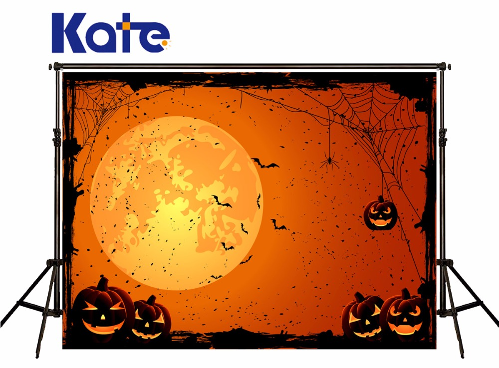 KATE Photo Background Halloween Backdrop Pumpkin and Bat Photography Background Treat or Trick Halloween Party Children Backdrop<br>