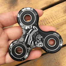 3D Purple Fidget Spinner ABS Tri-Spinner EDC Hand Finger Spinner for Autism and ADHD Focus Anxiety Relief Stress Gift Toys Kids