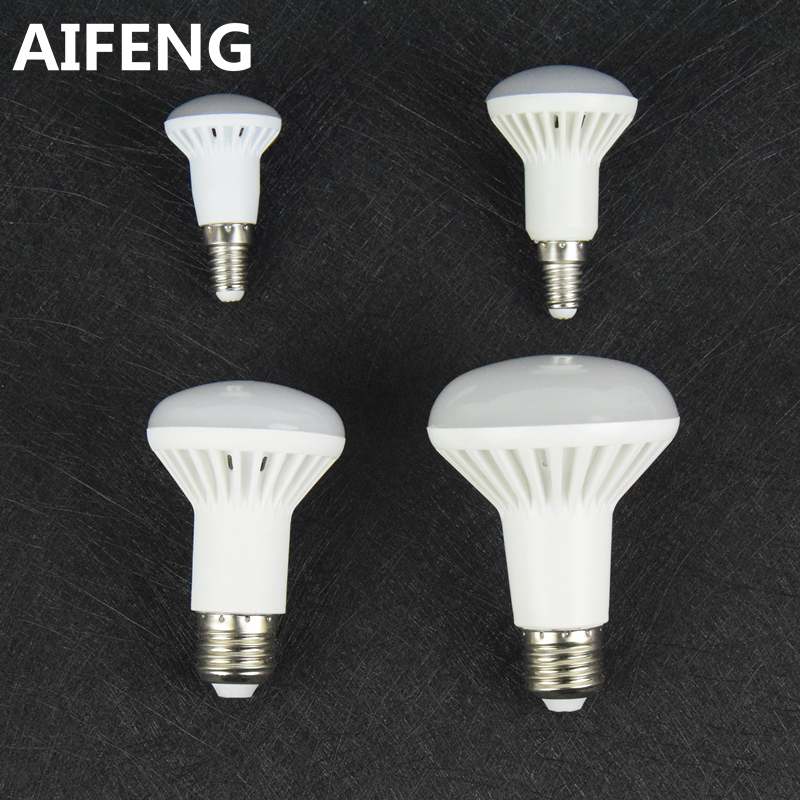 AIFENG dimmable e27 E14 12W 9w 7W 5W led light r80 R63 R50 R39 spotlight bulb COOL WHITE warm 5730smd lamp 110v 220v 230v 240v(China)