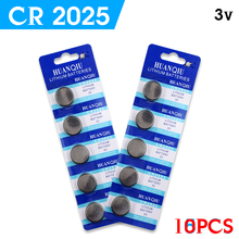 YCDC + Great Capacity selling+ 10Pcs 3V Lithium Coin Cells Button Battery CR2025 BR2025 DL2025 KCR2025 2025 L12 +Big Promotion+