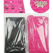 Dress Hanging Jewelry organizer Bag Hooks Jewelry Storage Black and Pink