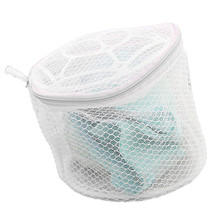 Laundry basket Fashion Lingerie Underwear Bra Sock Basket Washing Aid Net Mesh Zip Bag Rose For Clothes Sep21