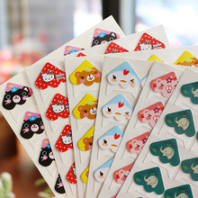 120 pcs/lot 5 sheets DIY Cute little animal Corner Paper Stickers for Photo Album Scrapbooking Handwork Frame albums Decoration(China)