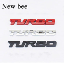 Newbee TURBO Emblem Car Styling Sticker Body Rear Tailgate Badge For VW skoda Seat Peugeot DS Renault Hyundai Buick Porsche(China)