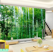 art Large murals 3D can custom bamboo decorative fabric wallpaper House Ornamentation decor wall stickers Chinese style(China)