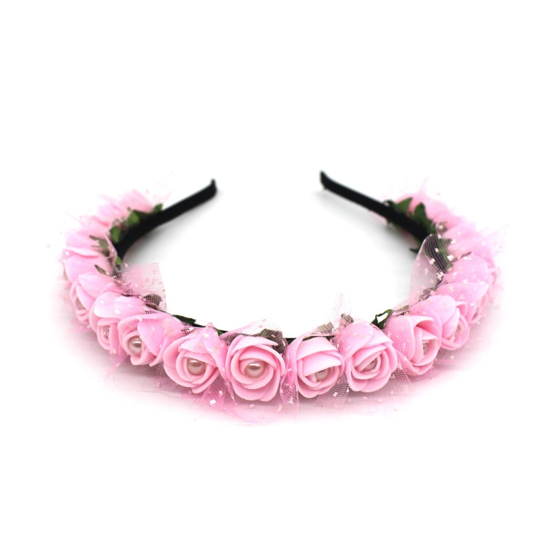 Lanxxy 17 New Fashion Pearl Flowers Hairbands for Girls Women Wedding Bridal Hair Accessories Floral Headbands 6