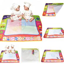 New 4 Colors or 1 Color Water Drawing Mat +Magic Pen Doodle Drawing Board Baby Toys Educational Painting Mat Gifts 80*60cm
