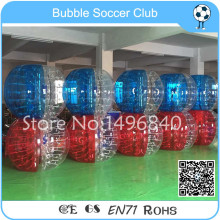10 pcs(5 Red +5 Blue+2 Pump) Children/Adult Soccer Bubble Ball/Inflatable Soccer Bubble Ball Giant Human Bubble Ball Suit