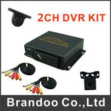 2 channel car dvr+ 2pcs mini cameras ,used for car,bus,taxi,mini car,for free shipping