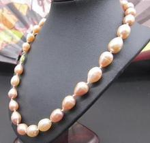 NATURAL PINK AAA 11-13MM SOUTH SEA PEARL NECKLACE 19 INCH choker(China)
