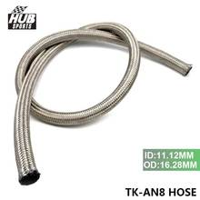 Hubsports - AN 8 1meter Stainless Steel Braided hoses Fuel Oil Line Hose track drift racing HU-AN8 HOSE