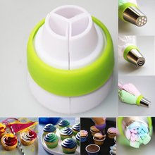 3 Color Icing Piping Bag Russian Nozzle Converter Coupler Cream Pastry Cake Decor Tool(China)