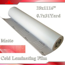 25Inch X 31 yard (0635x28M) Matte PVC Cold Laminating Film Roll For Protecting Photo For Cold Laminator(China)