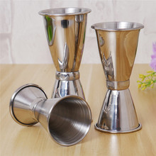 3 Sizes for choice Jigger Single Double Shot Cocktail Wine Short Measure Cup Drink Bar Party(China)