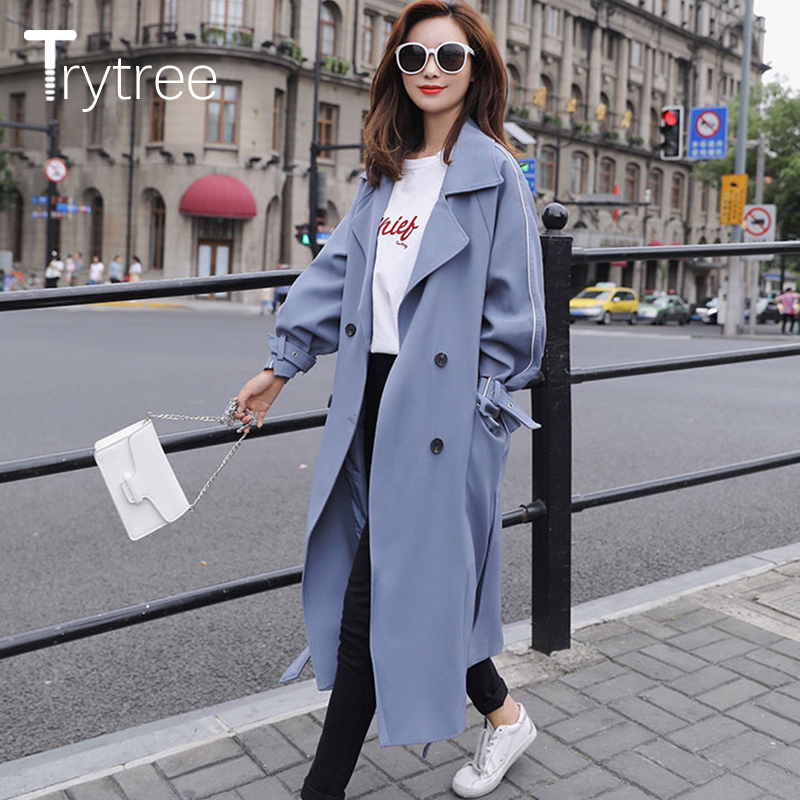 2018 lose Dünne Lange Mantel Lässig Tasche stricken Große Größe Breite taille Öffnen Stich Frau Tragen Graben winter outwear