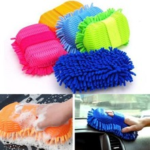 Microfiber Wash Gloves Car Window Washing Home Cleaning Cloth Duster Towel Gloves(China)