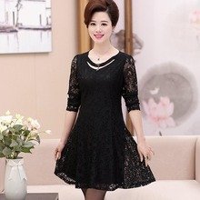 The older the spring and autumn period and the new women's clothing han edition dress pure color PB803043-1923(China)
