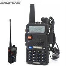 Baofeng UV-5R Full Black Walkie Talkie Amateur Two Way Radio Vhf Uhf Dual Band Ham Radios For Hunting in Moscow(China)