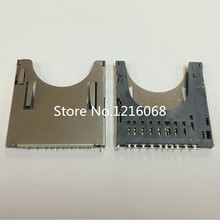 10pcs/lot SD combo deck self spring type SD card slot pop-up SD card slot SD card connector shell 2 one booth(China)