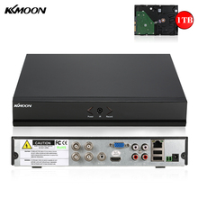 KKmoon Full 1080N/720P 4CH AHD DVR HVR NVR with 1TB Seagate HDD Onvif HDMI DVR Recorder P2P for Security Surveillance System(China)