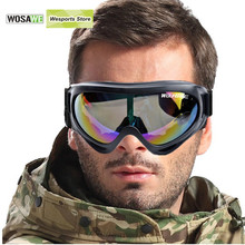 WOLFBIKE UV Protection Sports Ski Snowboard Skate Goggles Glasses Motorcycle Off-Road Ski Goggle Glasses Eyewear Colorful Lens