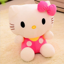20CM Top Quality Cheap Hello Kitty, plush toys for children kids baby toy,lively lovely doll hello kitty toy (3color for choice)(China)