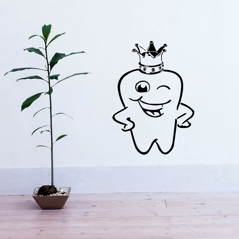 DCTAL Tooth Teeth Sticker Dentist Decal Hours Poster Vinyl Art Wall Decals Pegatina Quadro Parede Decor Mural Teeth Sticker