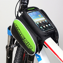 Buy Bicycle Frame Front Head Top Tube Waterproof IPouch 5.7 inch/4.8 inch Cell Phone Bike bag foldable Rainproof Nylon Cycling for $16.19 in AliExpress store