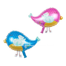 10 Pcs/Lot, Pretty Pink/Blue Bird Helium Balloon, Baby Shower Animal Foil Balloon, Party/Birthday/Wedding Decorations(China)