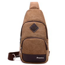 Canvas Chest Bag for Men Women Crossbody Shoulder Two Side Straps pack Bags Messenger for Short Trip Casual Travel Small XA19WC(China)