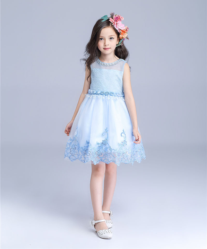 Amazing TUTU Style Girl Wedding Dress Pearls with Super Appliques Kids Party Dresses for Girls roupas infantis menina 3-12 Years<br>