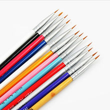 12 PCS Colorful Nail Art Design Painting Tool Pen Polish Brush Set Kit DIY Professional Nail Brushes Makeup Cosmetic Accessories