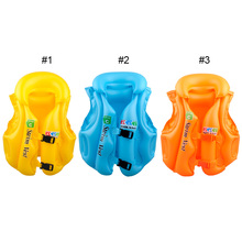Boys Girls Drifting Adjustable Suit Children Kids Baby Inflatable Life Vest Swiwmsuit Child Swimming Safety Vest Equipment 3Size(China)