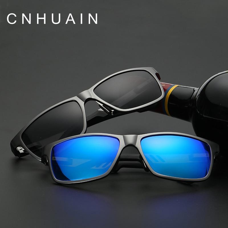CNHUAIN Brand Design Mens Sunglasses Aluminum Magnesium Polarized Driving Glasses Male Sunglasses For Men Square Goggle<br><br>Aliexpress