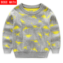 BEKE MATA Knitted Toddler Boy Sweater Casual Spring 2017 Cartoon Dinosaur Pattern Warm Cotton Boys Sweaters Pullovers Children(China)