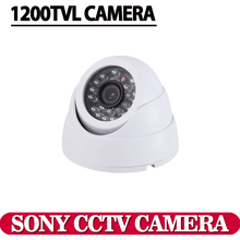 1/3 color CCD 1200TVL dome mini cctv camera,HD indoor White 24 ir leds day/night security home video surveillance camera