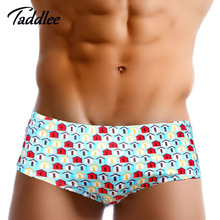Taddlee Brand Men Swimwear Swimsuits Swimming Briefs Bikini Cut Gay Penis Pouch Men's Swim Boxer Trunks Surf Board Shorts Sports(China)