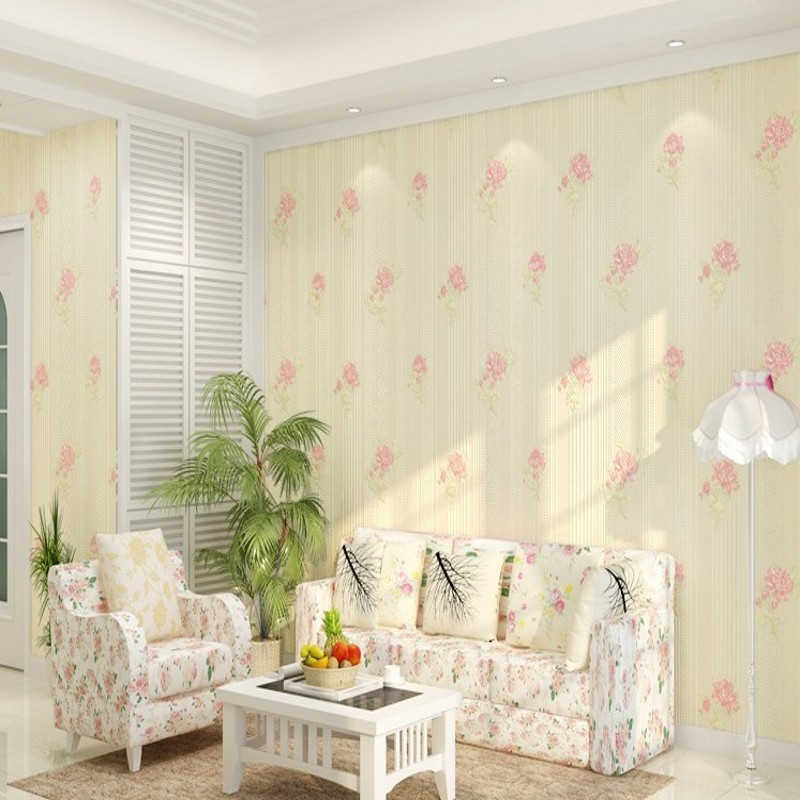 Free Shipping 3D Stereo Pastoral Floral Non-wovens Wallpaper Warmer Bedroom Living Room Sofa Background Wallpaper<br>