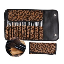 12 PCS Pro Makeup Brush Set Cosmetic Tool Leopard Bag Beauty Brushes Premium Full Function Blending Powder Foundation Brush(China)