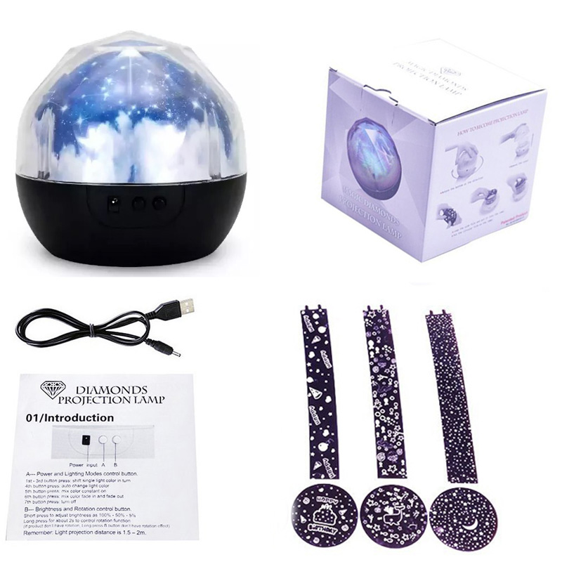 LED Star Master Night Lights Starry Sky Magic Planet Projector Lamp Cosmos Universe Luminaria Baby Nursery Holiday Birthday Gift (7)