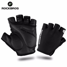 ROCKBROS Bicycle Bike Half Fingger Gloves Shockproof Breathable Men Women Summer MTB Mountain Sports Gloves Cycling Clothings(China)