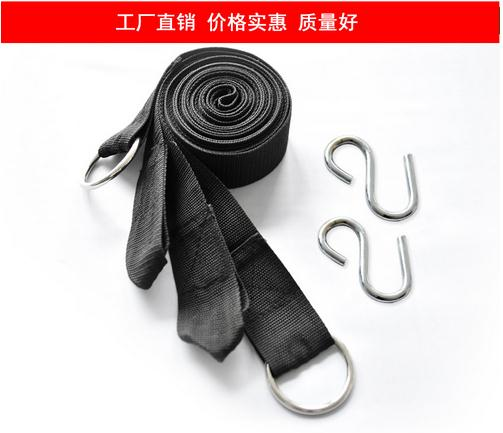 TOP Quality 100%  Pure nylon Rope Strong Hammock Hanging Belt Hammock Strap Rope With Metal Buckle Load 200kg TB For Hot Sale<br><br>Aliexpress