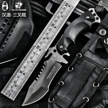 HX OUTDOORS Survival knife army hunting tools high hardness straight knives essential tool for self-defense cold steel knife(China)
